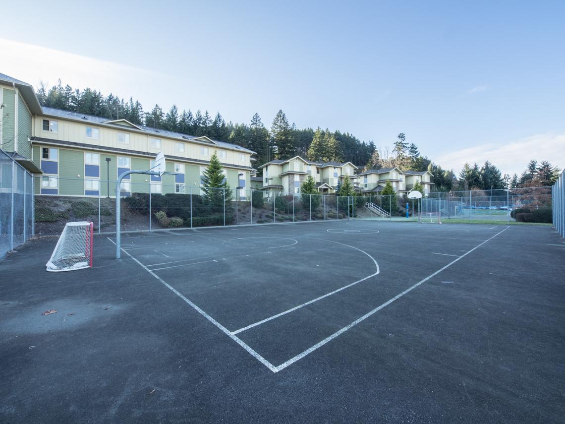 On residence basketball court